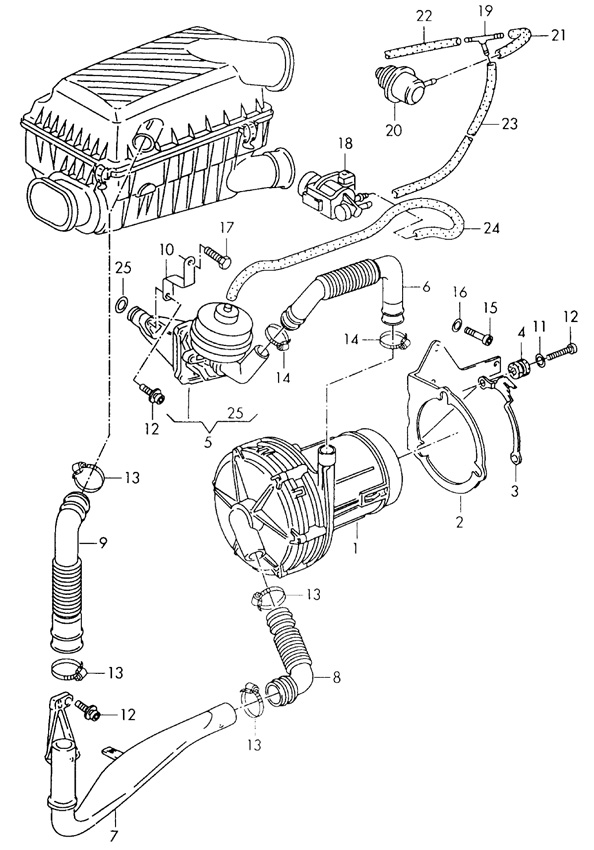 engine diagram bew on audi secondary air injection pump diagram