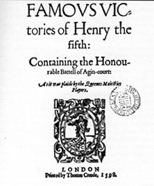 The Famous Victories of Henry the Fifth