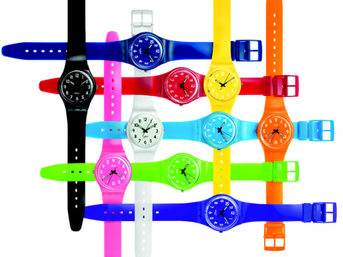 Swatch color code watches