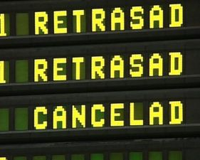 Panel con retrasos y cancelaciones