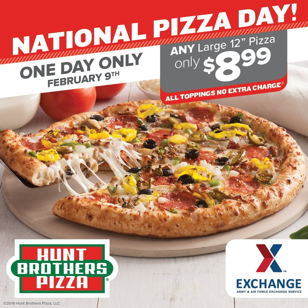 National Pizza Day: Hunt Brothers Pizza