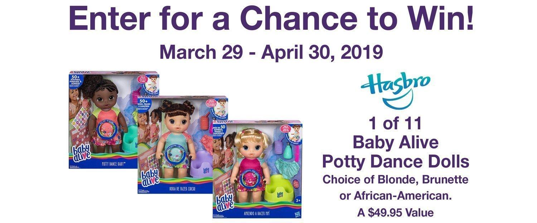 MOMC Hasbro Baby Alive Sweepstakes