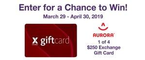 MOMC Aurora Gift Card Sweepstakes