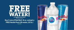 Express - Free Nestle Water with Red Bull Purchase