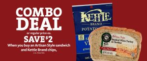 Express - Save $2 Combo Deal Artisan and Kettle Chips
