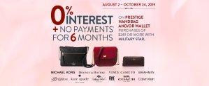 Military Star Handbag Promotion