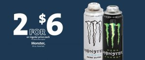 EXPRESS - Monster Energy Drink 2/$6