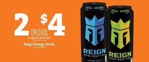 EXPRESS - Reign Energy Drink 2/$4