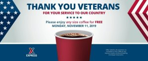 Express - Veteran's Day FREE Coffee