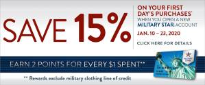 Save 15% with a New Account