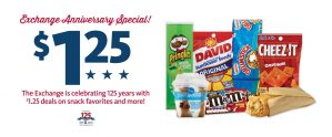 Express - 125th Exchange Anniversary $1.25 Offers