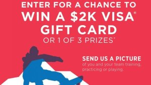 Enter for a chance to win a $2K Visa Gift Card or 1 of 3 prizes