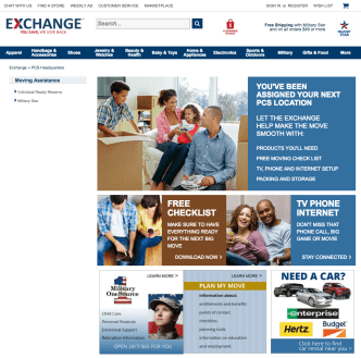 Exchange Provides One-Stop Shop Online for PCS'ing Soldiers, Airmen