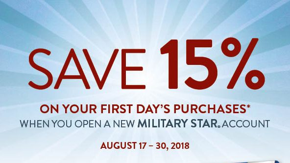 Exchange Shoppers Save 15 Percent on First-Day Purchases with New MILITARY STAR Accounts Aug. 17 to 30