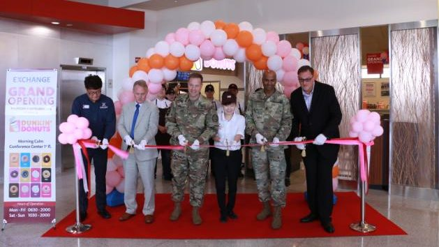 USAG Humphreys Exchange Welcomes Dunkin' Donuts to Morning Calm Conference Center