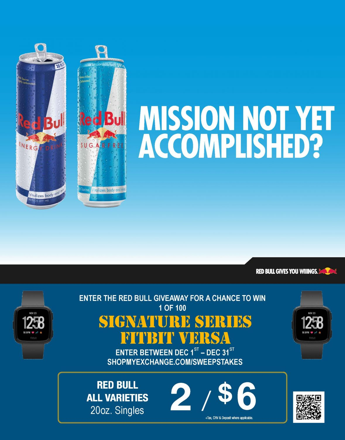 Mission not yet accomplished? - Red Bull giveaway