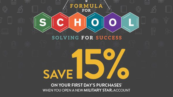 Save 15 on first days purchases August offer