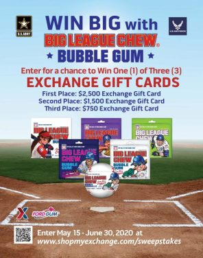 Big League Chew Sweepstakes Offering Nearly $5,000 in Exchange Gift Cards