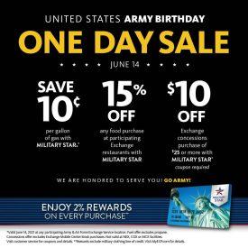 Army birthday MilStar offers