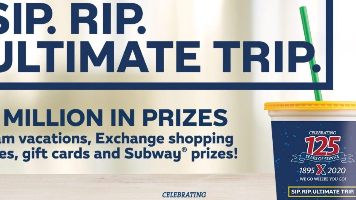 Subway drink with words about sweepstakes