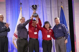 CEO/Director's Cup Large Store Winner: Puerto Rico-Eastern Region; General Manager Nicholas Nguyen and Main Store Manager Rochelle Tolentino
