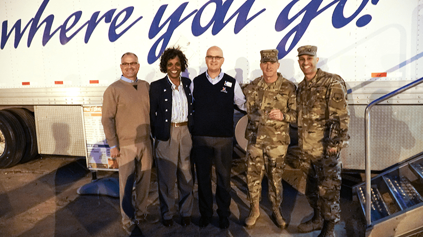 Western Region Vice President; Senior Vice President Shelly Armstrong; Davis-Monthan Exchange GM Mikel Hunter; and Exchange Senior Enlisted advisor CMSgt. Luis Reyes join Gen. David Goldfein, Chief of Staff of the Air Force, at the MFE,.