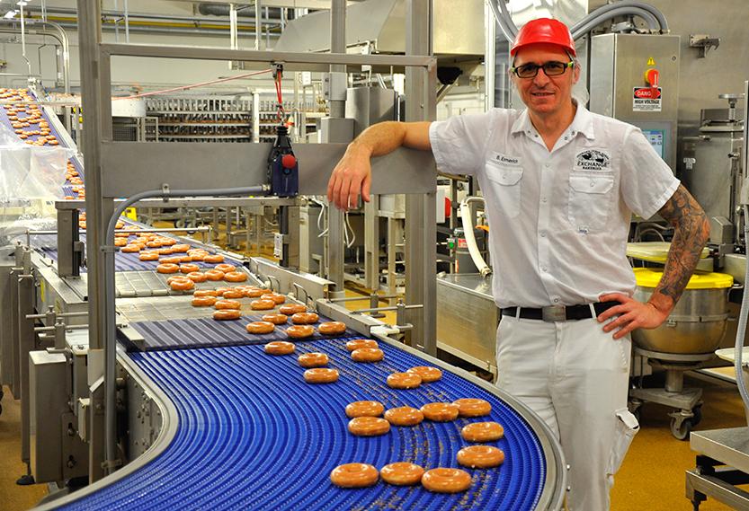 Ben Emmerich, a master doughnut maker, according to Krispy Kreme