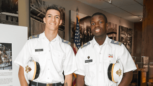 Cadets CPT Christian Falk and Thomas Bordeaux