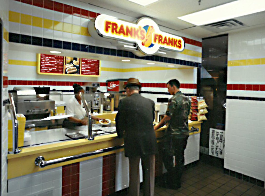 AAFES-exclusive Frank's Franks, Lowry AFB, 1992