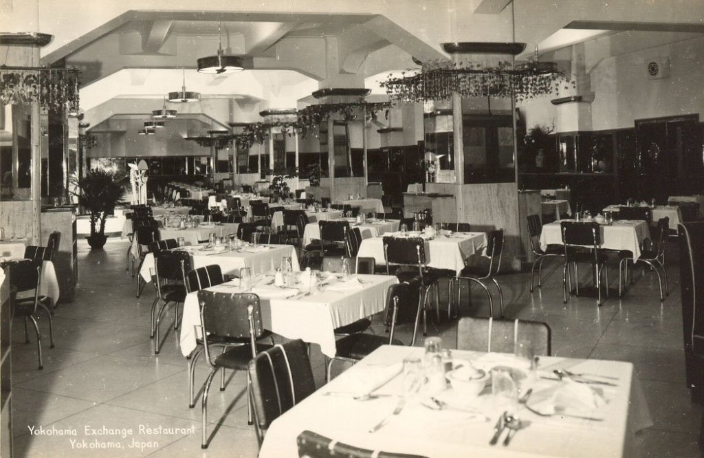 Yokohama PX restaurant, Japan, early 1950s
