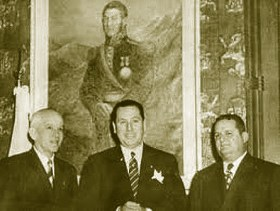 El mayor conel mandatario argentino José Domingo Perón y el presidente José Remón