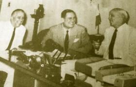 El presidente argentino Perón y el mayor Alemán