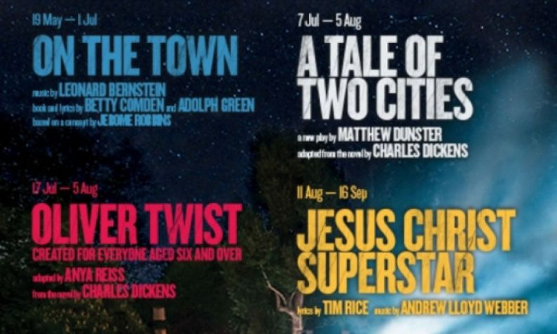 Open Air announces 2017 summer: On the Town, Jesus & Dickens' Tale of Two Cities