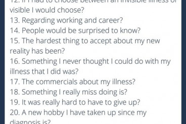 30 Things About My Invisible Illness You May Not Know 2017