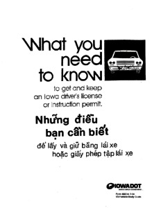 Iowa Drivers Manual: Vietnamese Manual, June 17, 2016