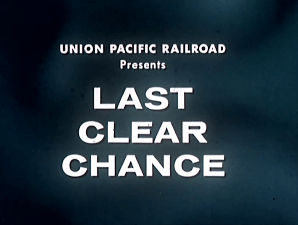Last Clear Chance (1959)