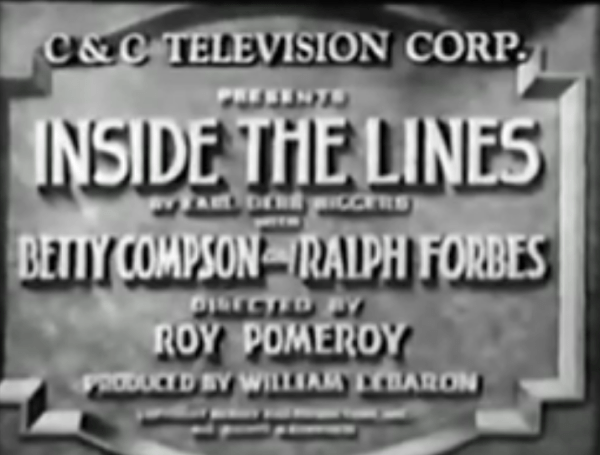 Inside the Lines, 1930