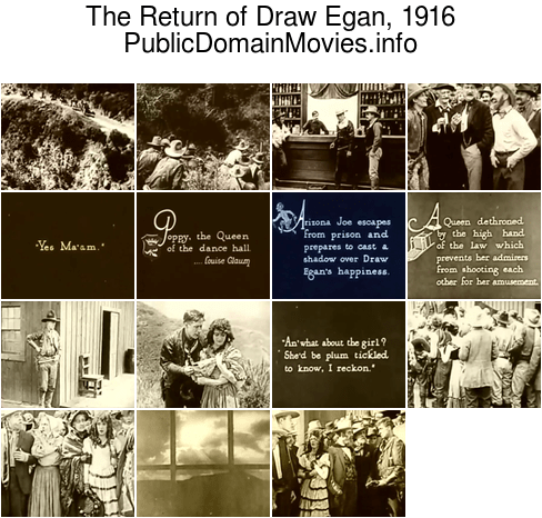 The Return of Draw Egan, 1916
