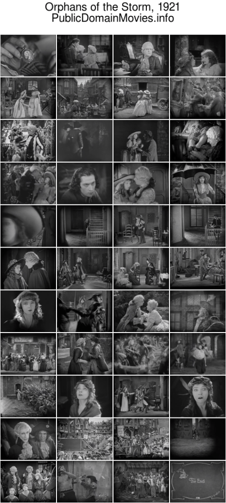 Orphans of the Storm, 1921 by D. W. Griffith