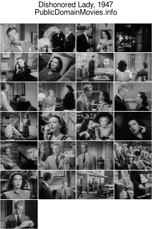 Dishonored Lady, 1947 starring Hedy Lamarr