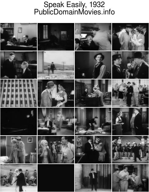Speak Easily, 1932 starring Buster Keaton