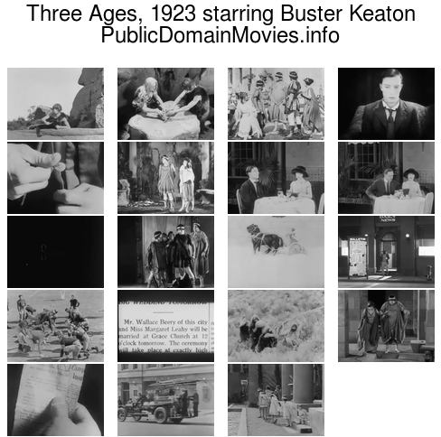 Three Ages, 1923 starring Buster Keaton