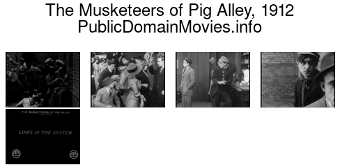 The Musketeers of Pig Alley, 1912 first gangster movie