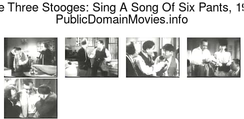 The Three Stooges: Sing A Song Of Six Pants, 1947