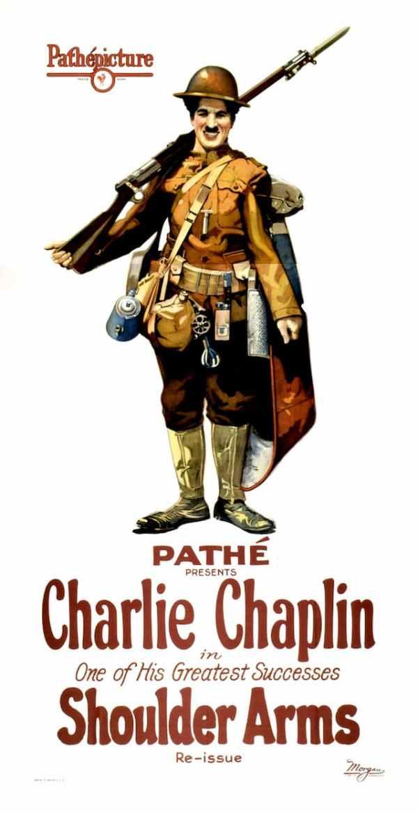 Shoulder Arms, 1918 starring Charlie Chaplin