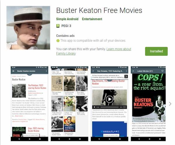 Buster Keaton Free Movies
