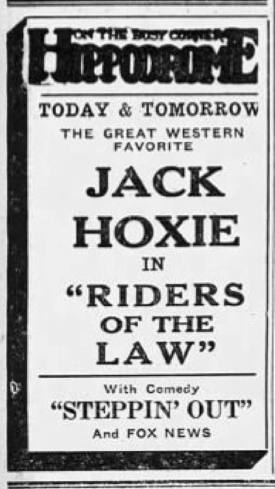 Riders of the Law, 1922