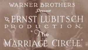 The Marriage Circle, 1924 directed by Lubitsch