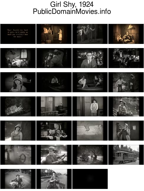Girl Shy, 1924 romantic comedy starring Harold Lloyd