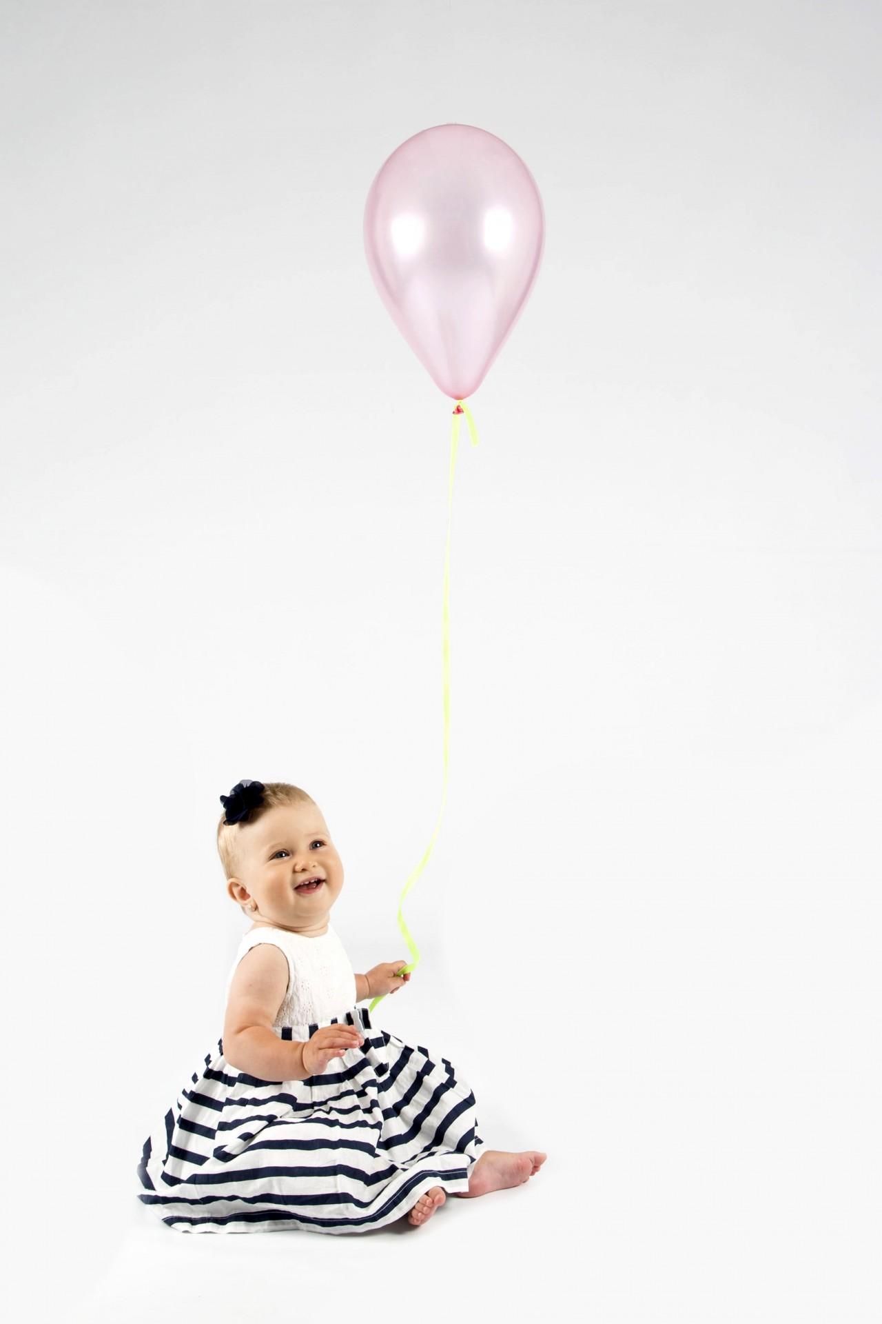 Baby Girl Holding Balloon Free Stock Photo Public Domain